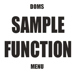 Sample Function / Banquest Menu, Doms Pier 1, Donegal Town